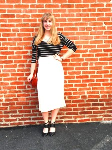 White Pleated Midi Brick